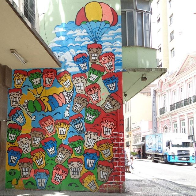 Graffiti wall by @rafaelhiran . #angatu #hiran #rafaelhiran #streetartrio #graffitiart #streetart #artederua #urbanart #arteurbana
