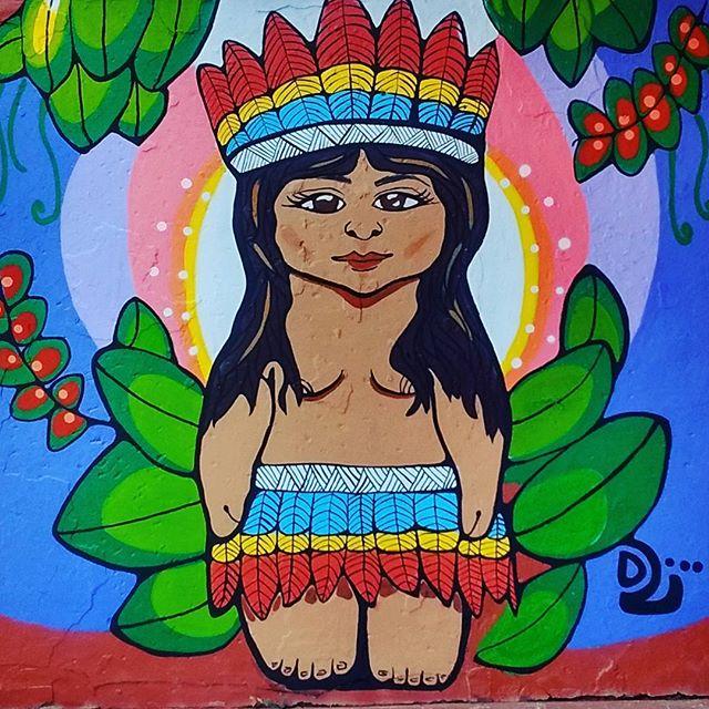 Jurema linda de mamãe <3 Vê ela lá tb ó https://m facebook com/BauDeSotao/ #resisteíndio #streetartrio #caboclajurema #ruasdazn #loveart #arteurbana #instaartist