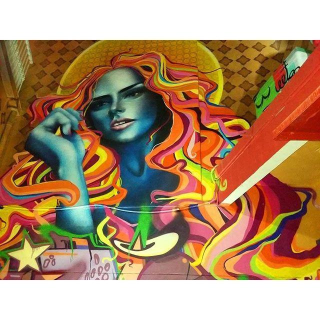 MUSA DA LAPA #Graffiti #Graffiticarioca #streeart #streetartrio #color #cores #spraypaint #spray #musa #mulher #woman #lapa #ganjah #casarão76 #gilzin #gilfaria #arteurbana #artederua #urbanart