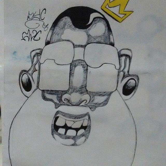 """Mais uma da seria """"a boa e velha Bic"""" #sketch #streetartrio #streetartriodejaneiro #instagrafite #addamsvisualcrew"""