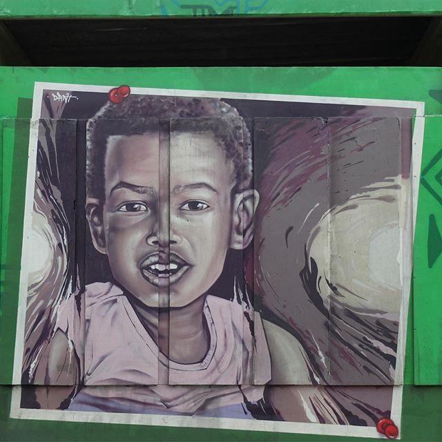 Mural by @Dante_Urban for @Metro_Rio in Inhaúma in Rio de Janeiro, Brazil. Beautiful portrait of a child at a local school!