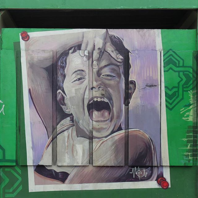 Mural by @Meton.Joffily for @Metro_Rio in Inhaúma in Rio de Janeiro, Brazil. Beautiful portrait of a child at a local school!