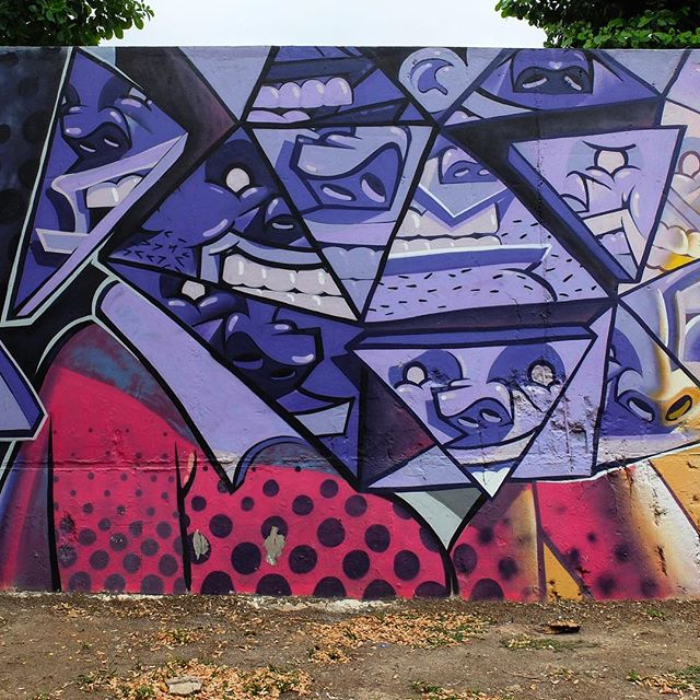 Mural by *please tag the artist* for @Metro_Rio in Nova América in Rio de Janeiro, Brazil. Deconstructed face!