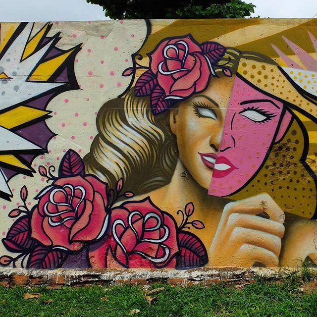 Mural by *please tag the artist* for @Metro_Rio in Nova América in Rio de Janeiro, Brazil. Two-faced!