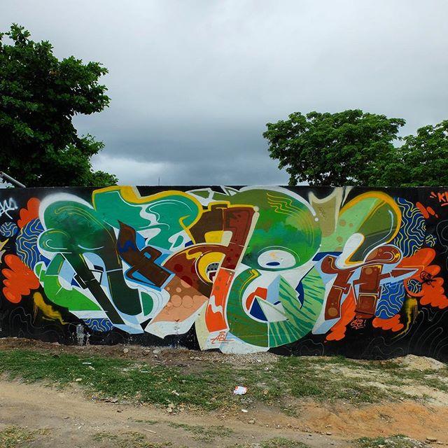 Piece by @Afa1987 for @Metro_Rio in Nova América in Rio de Janeiro, Brazil. Colorful!