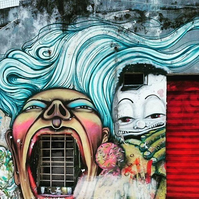 Rio de Janeiro graffiti #study1 #riodejaneiro #brazil #southamerica #graffiti #urban #colour #creative #streetartrio #streetart