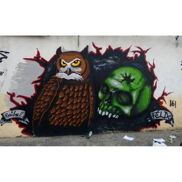 Rolou hoje com o mano Félix... #graffiti #art #rj #streetart #streetartrio #vandal