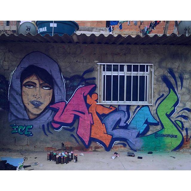"""""""Sucesso nãoé quantodinheiro você ganha, mas a diferença quevocêfaz na vida das pessoas."""" Incomodando os bicos, seguimos para o próximo pico... #streetarteverywhere #StreetArtRio #graffiti #jpa #leandroice"""