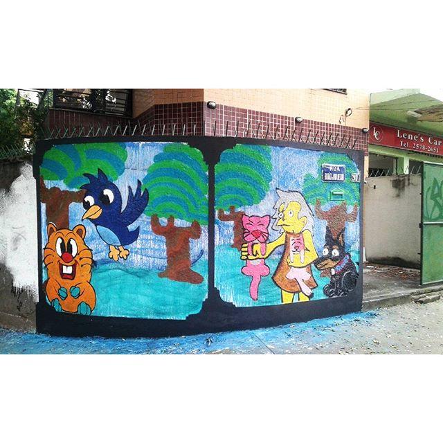 #calvinwolf #wolf #GRAFFITI #instagrafite #streetartrio #AVCrew Painel com o mano snok