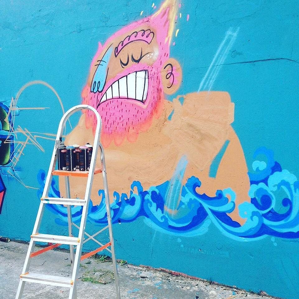 Dia desses... #graffitiart #graffiti #graffitiartist #spraycanart #spraypaint #streetartrio #banguking