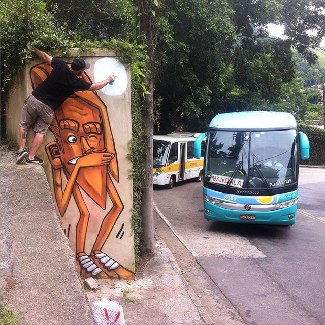 #graffiti #grafite #marceloeco #spraycans #tijuca #tijucaforest #altodaboavista #streetartrio #tagsandthrows #fatcap