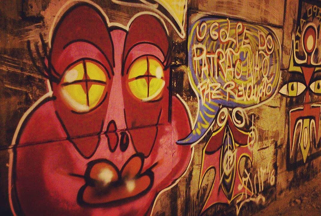 O golpe do patrão não faz revolução! #grafite #Graffiti. #streetartrio #streetart #art #arte #jloborges #nãovaitergolpe. #jsinktattooeart