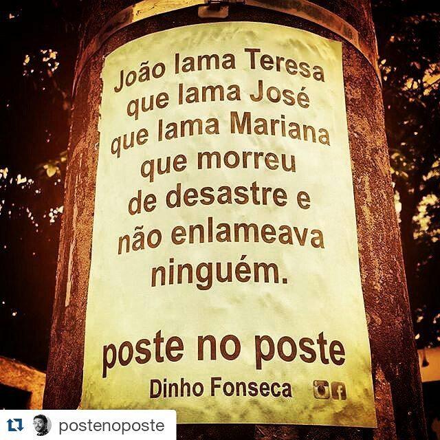 #Repost @postenoposte with @repostapp ・・・ Um retrato do Brasil em poucas palavras.  #poesias #poetry #poema #poemas #verso #versos #poeta #poetas #arte #arteurbana #rj #rio #streetart #original #autor #autoral #post #poste #postes #posts #frases #dinho #dinhofonseca #postenoposte #poster #originals #StreetArtRio #street #verdadenoturna