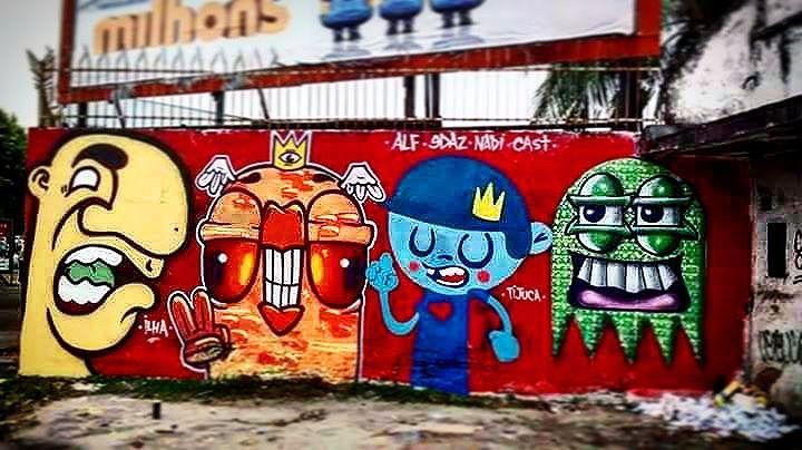 Welcome to the island !!! #alf #bignose #yellow #trapacrew #monster #bird #ghost #littleprince #graffit #graffitiart #fatcap #color #locals #friends #montana #arteurbana #suvinil #streetartrio