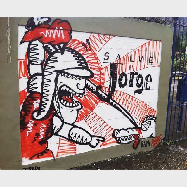 É do ano passado, mas tá valendo. Salve jorge!! #trapacrew #rafagraffiti #rafa #rafaelgeraldo #graffiti #grafite #graff #streetartrj #streetartrio #streetart #saojorge #saojorgeguerreiro #salvejorge #salvejorgeguerreiro #saintgeorge #santjordi #23deabril #ogum