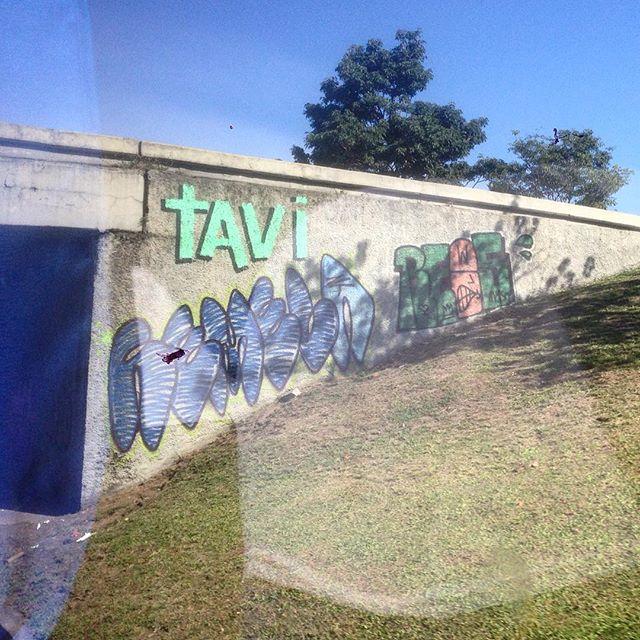 From the bus (again). Art done by @tavi_vandal @remelattk @rews_1v1s1dc #graffiti #grafporn #streetart #streetartrio #streetartglobe #urbanart #spraydaily #muralsdaily #aterrodoflamengo #riodejanero #brazil