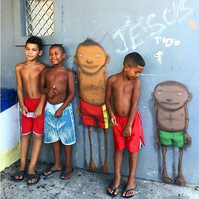 Os Gemeos in the favela, nice work from the twins. #favela #osgemeos #graffiti #streetart #streetartrio #streetphotography #streetwear #londonart #londonstreetart #surfing #skateboarding #pixacao #brazil #riodejaneiro #rio #saopaulo #mensfashion #mensfashionblog #casualclothing #casuals #beachwear #urbanart #nystreetart #brasil #ultras #reggae #goodvibes #art #photography