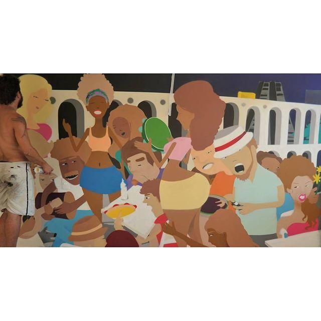"""""""Quem não gosta de samba bom sujeito não é """" #culturadorio #riodejaneiro #rj40graus #lapa #samba #mulata #bondinho #Graffiti #Graffiticarioca #boemia #gilzin #Gilfaria #streetart #streetartrio #carioca #massadecor #colors #spray #spraypaint #arcosdalapa #rodadesamba #happyhour #batucada #cervejagelada #mulherbonita #queméquenaogosta #RJ #021"""