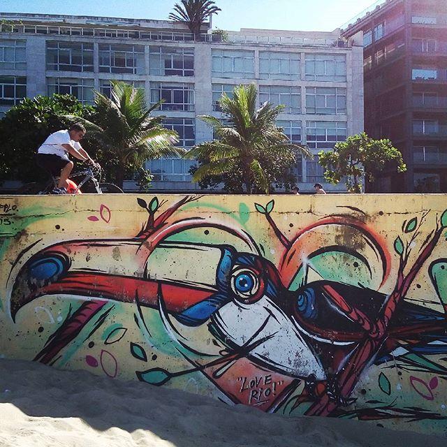 Rio de Janeiro. 03/04/2016   vandalogy #StreetArtRio #streetart #riodejaneiro #graffiti #ipanema #ipanemabeach #streetartbrazil #streetartbrasil