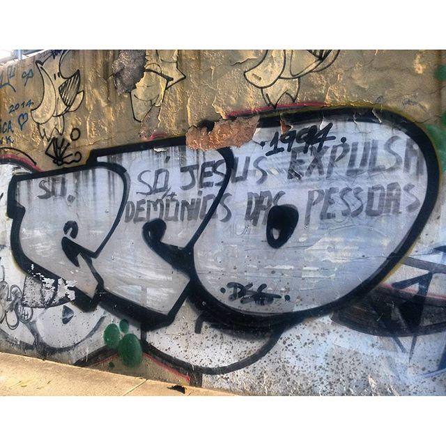 #StreetArtRio 1994, tag clássica do Eco. Grafite no início da Avenida Presidente Vargas, perto da Praça da Bandeira Artista: @marceloeco (Eco) Tirada em 25/03/2016
