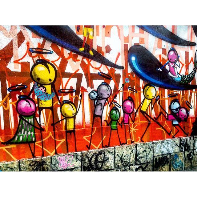 #StreetArtRio Grafite na Rua Jardim Botânico próximo à esquina com a rua Oliveira Rocha, no Jardim Botânico; 6/9 Artista: @warkrocinha (Wark da Rocinha) Tirada em 13/01/2016