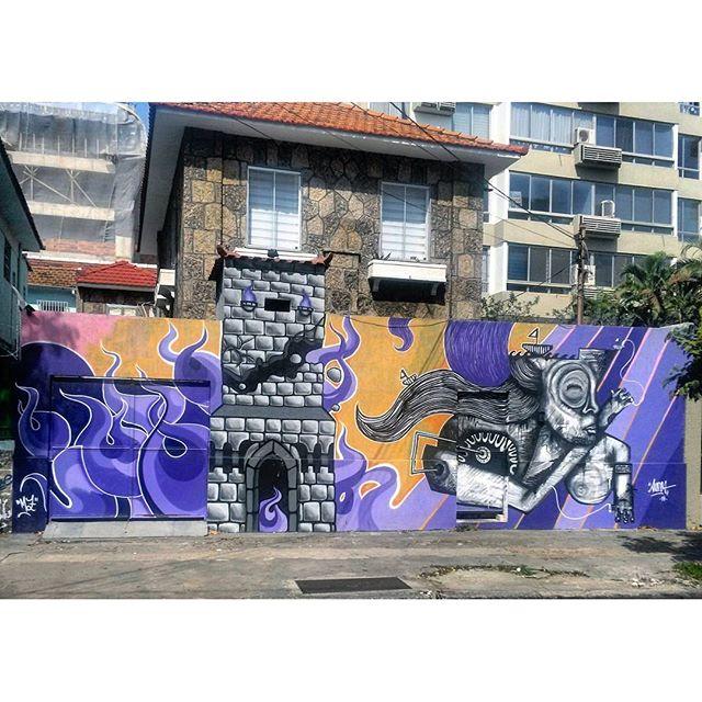 #StreetArtRio Grafite na Rua Professor Gabizo, próximo à esquina com a Rua Martins Pena, na Tijuca Artistas: @mz_qpasa (MZ) e @searc_src (SRC) Tirada em 27/01/2016