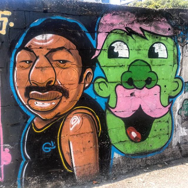 #StreetArtRio Grafite na rua Doutor Satamini na esquina com a Rua do Matoso, na Tijuca. Artistas: @garveyart (Garvey) e #Derf Tirada em 18/12/2015