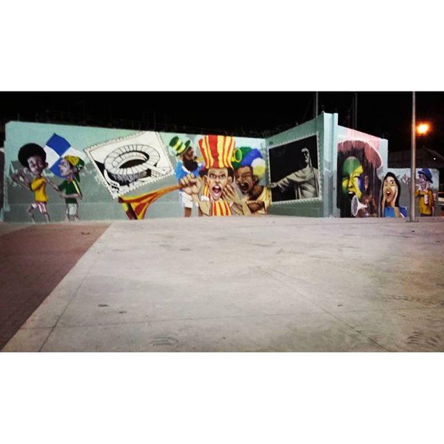 Viva o Engenhao, viva o Rio de Janeiro!! seus postais, sua torcida, sua gente... Painel realizado nessa semana. Na sequencia: Duim, Rena, Caze, Pakato, Sark e eu. #engenhao #engenhodedentro #Graffiti #Graffiticarioca #spray #spraypaint #torcida #postais #postaisdorio #street #streetartrio #gilzin #gilzinfaria #colors #torcida #olimpíadas #olimpiadas2016