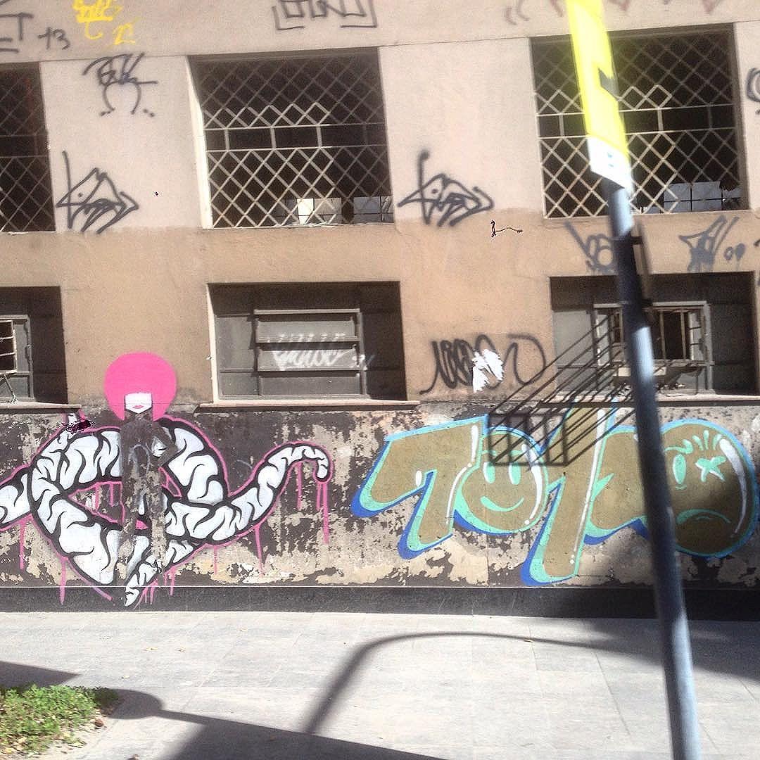 Art done by @mz_qpasa @70120.16 #graffiti #grafporn #streetart #streetartrio #streetartglobe #urbanart #spraydaily #muralsdaily #riodejaneiro #Brazil