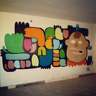Barcelona,2009 - abandoned factory, villas puzzle - #characters #characterdesign #child #streetart #streetartrio #streetartforkids #ingf #instagrafite #pictopia #pictoplasma #urbanart #instagrafiteoff #barcelona #barcelonastreetart #poblenouesllibre
