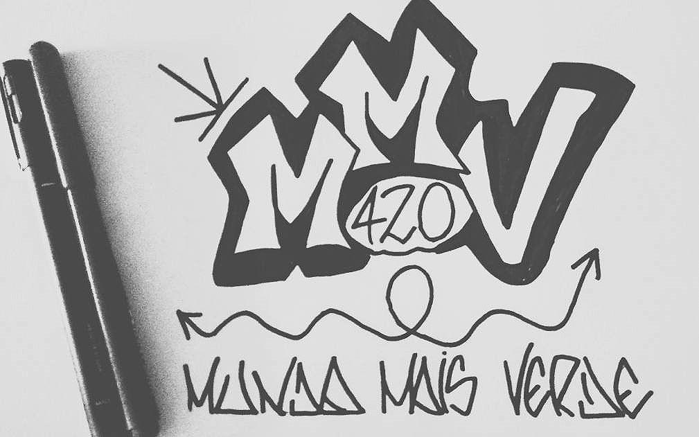 Rabiscando papel mas pensando nas paredes.  #mmv420  #bombgraffiti #draw #rabiscando