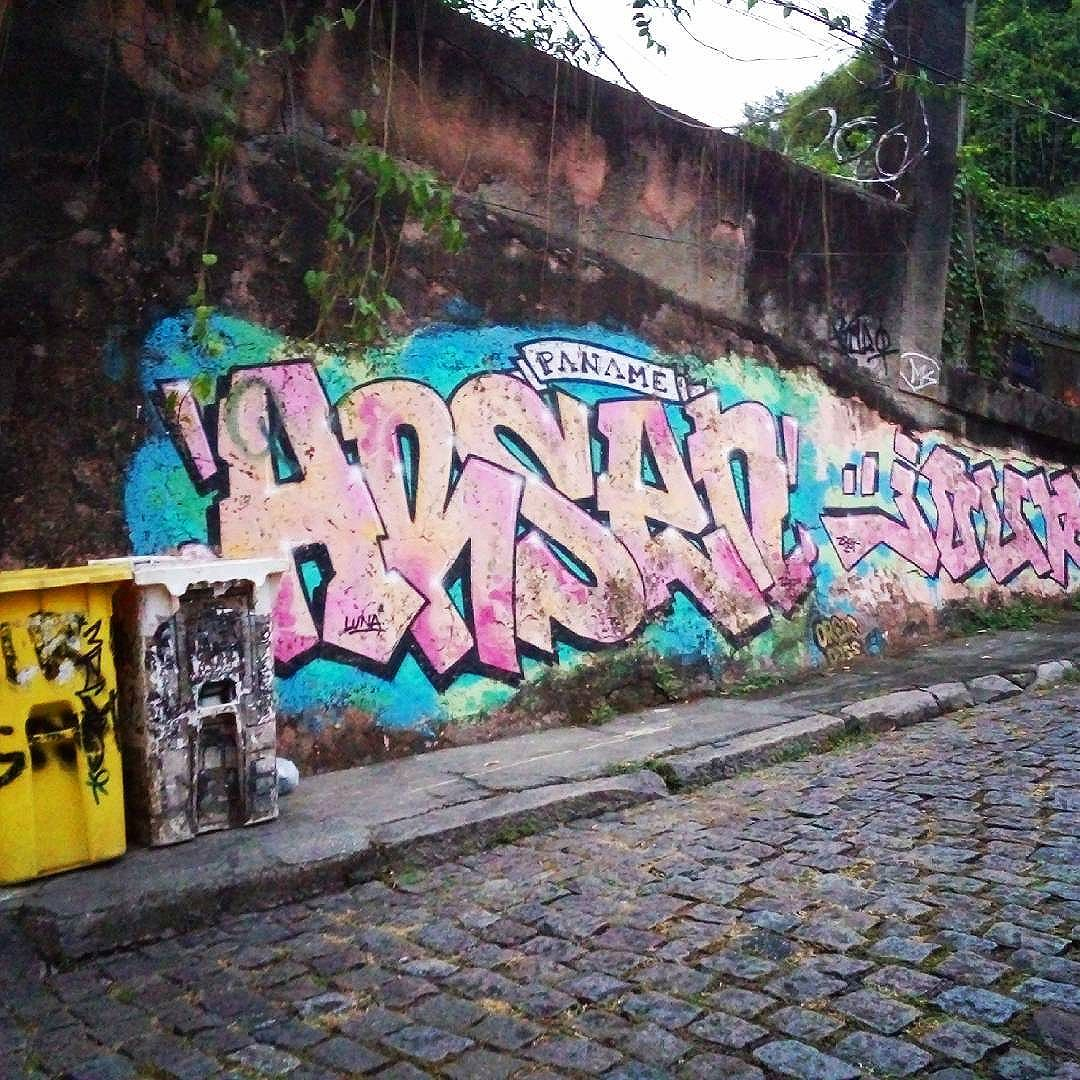 Rio de Janeiro. 30/04/2016   vandalogy #streetartrio #streetart #riodejaneiro #spraypaint #santateresa #graffiti #arsen #paname