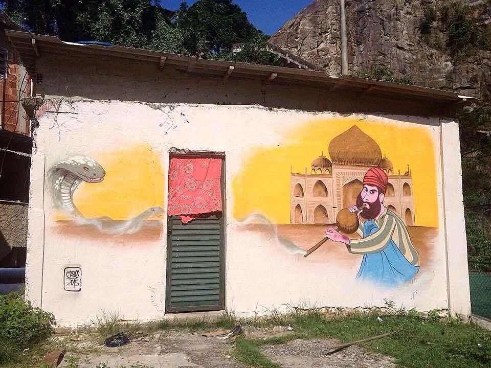 #tajmahal na Casa Branca.  #character #charactergraffiti #wall #streetartrio #streetartnews #streetart #2015