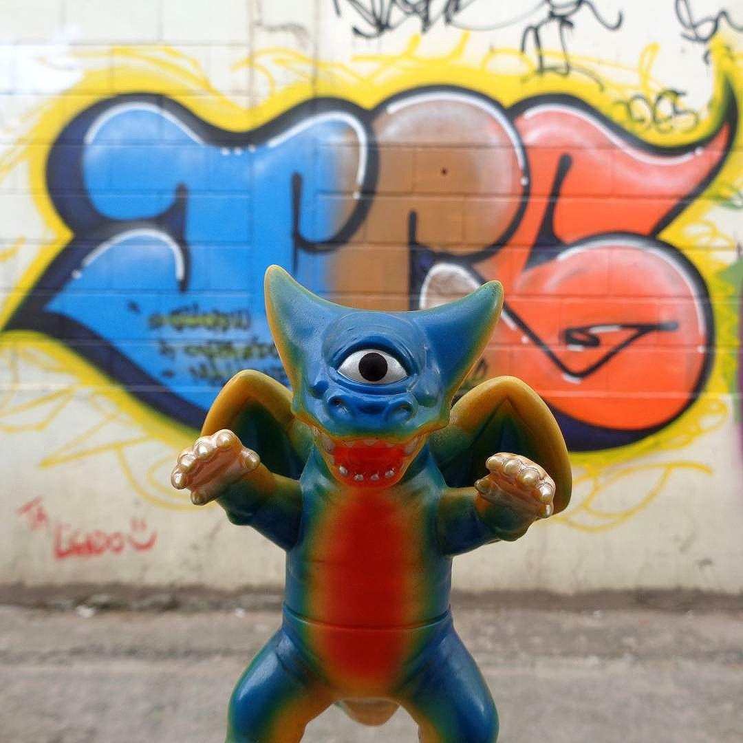 Deathra fatale! #021crew #streetartrio #graffitiart #deathra #minideathra #ggml