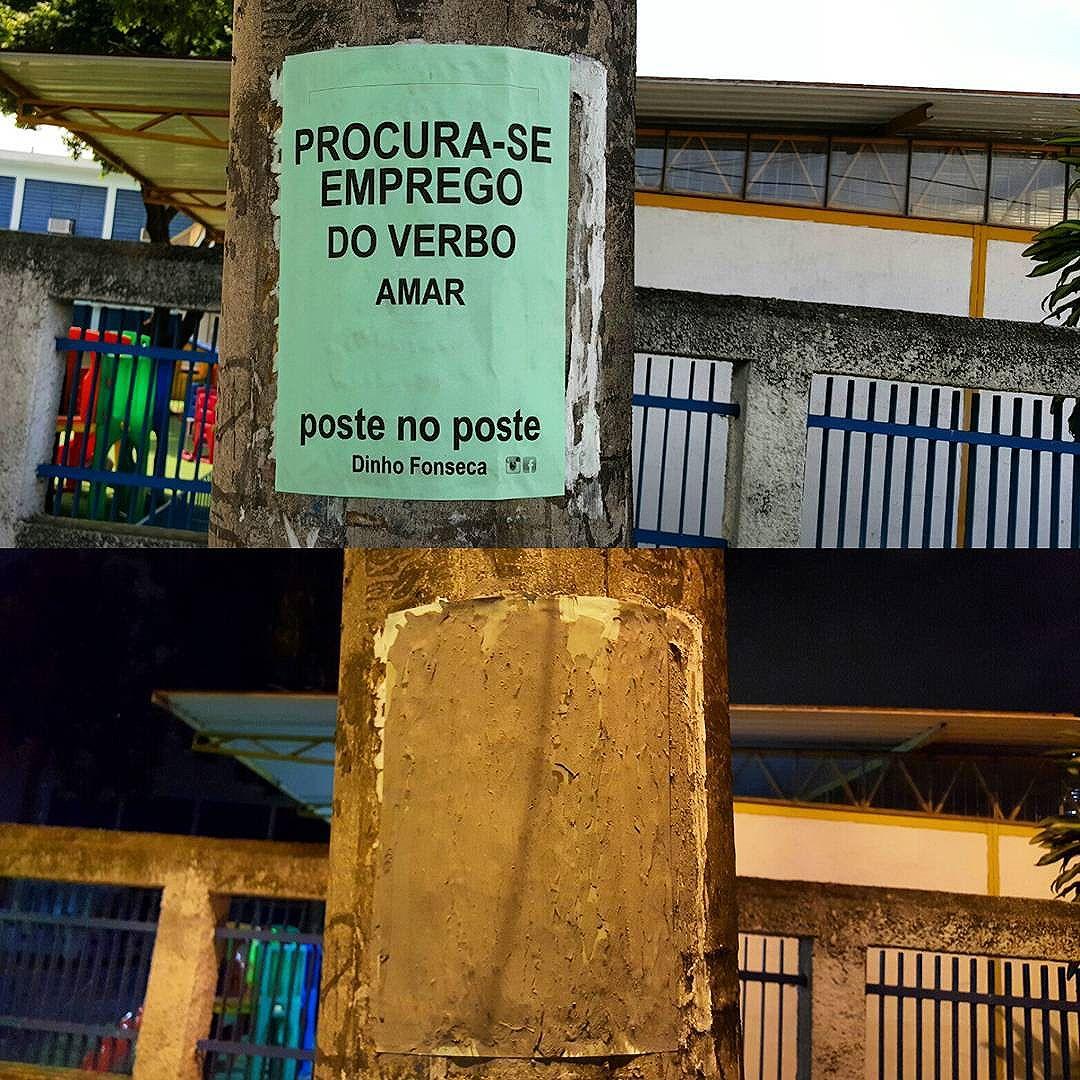 DESAMAR. . Conheça meu livro VERDADE NOTURNA (Chiado Editora - 284 págs.) no Facebook.  Você poderá adquirir o seu pelo site  www.chiadoeditora.com/livraria/verdade-noturna  ou  www.easybooks.com.br/literatura-biografias-humor-e-quadrinhos/poesia/verdade-noturna/  Também em e-book e nas melhores livrarias do Brasil e de Portugal.  Importante é ter saúde. . #poesias #poetry #poema #poemas #verso #versos #poeta #poetas #arte #arteurbana #rj #rio #streetart #original #autor #autoral #post #poste #postes #posts #frases #dinho #dinhofonseca #postenoposte #poster #originals #StreetArtRio #street #verdadenoturna #chiadoeditora