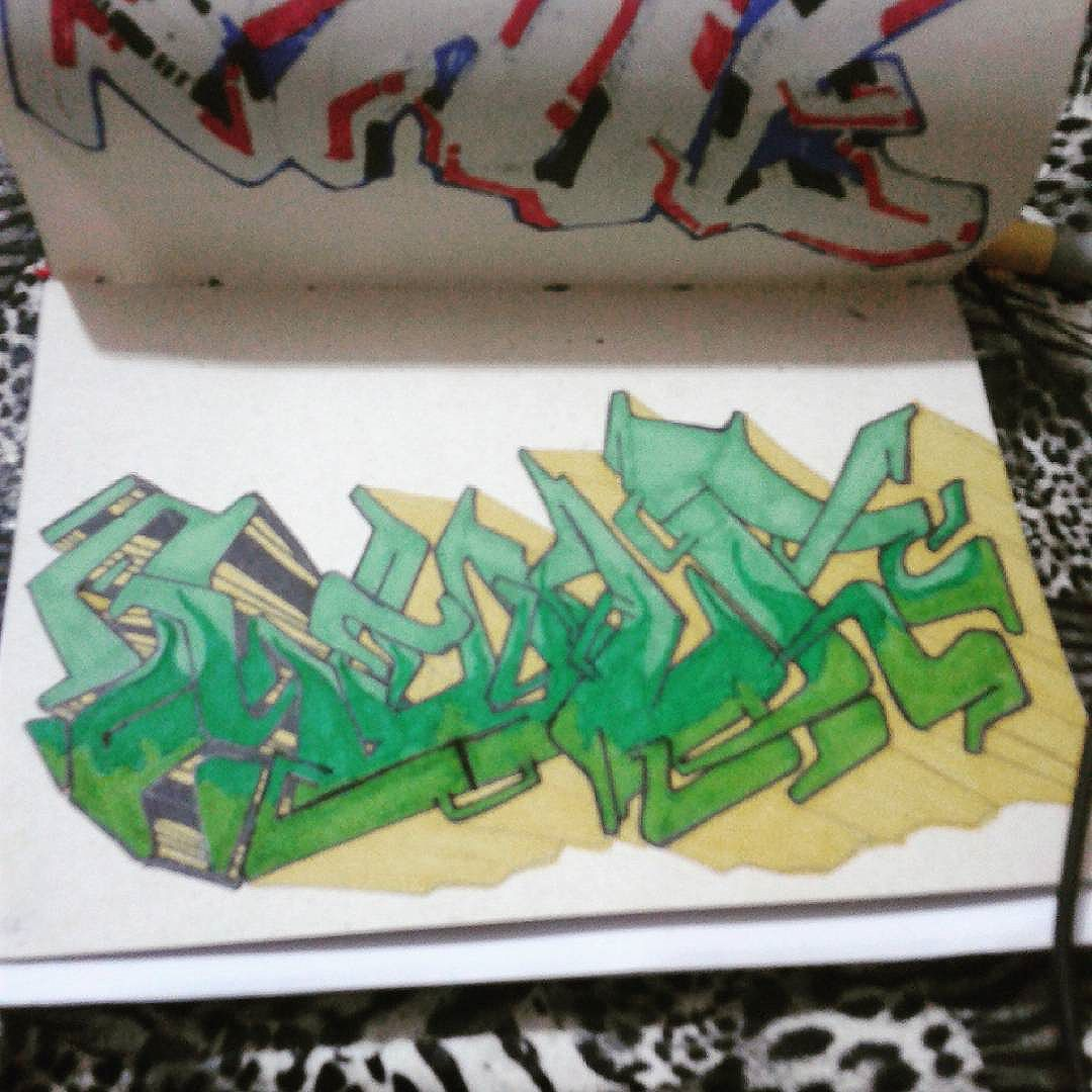 Estudos noturnos  #calvinwolf  #wolf  #vandal  #letter  #graffiti  #instagrafite  #streetartrio  #AVCrew  #wildstyle