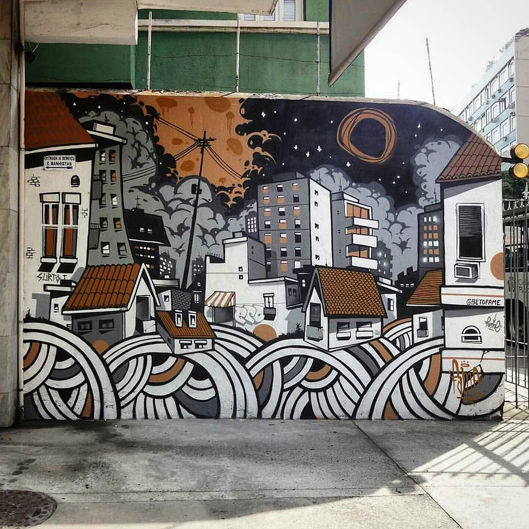 F a M e , TIJUCA 015  Cidade para todos. #nrvo #fame #graffiti #urban #wall #tijuca #riodejaneiro #paint #streetartrio #streetart #city