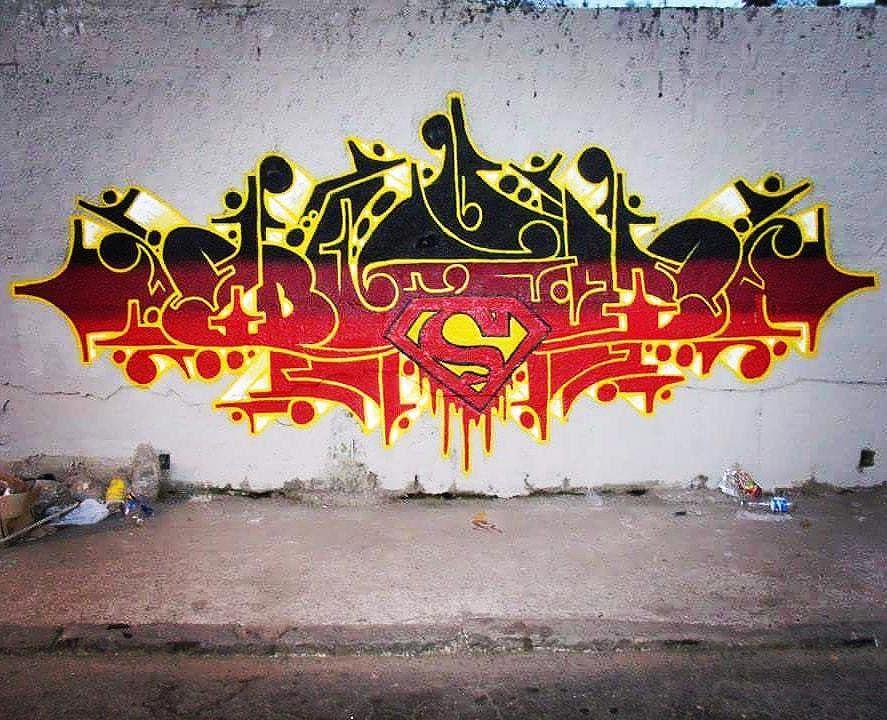 Letter. #graffitiart #graffitiwildstyle #superman #streetartrio #graffitiletters #budog