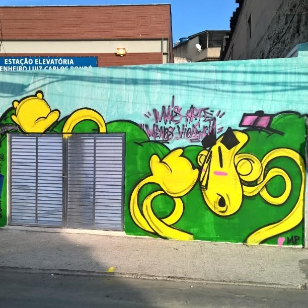 Mais arte e menos violência.  Nós só queremos, paz , amor e arte. #realgraffiti #sempadrinho #sempatrocinio #persona #ilovemp #wallsofporto #graffitirj #streetartrio #graffitiworld #graffitiislife