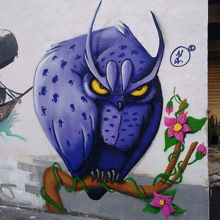 Mutirão de domingo #paint #painting #Graffiti #Art #arteurbana #streetart #StreetArtRio #Rj #Owl #style #Cool #RodriCool #ic .