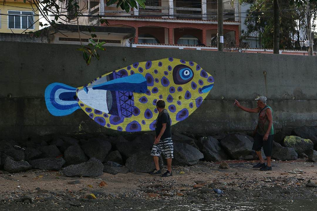 O Baiacu #streetart #streetartrio #arte #art #mariscarte #seprtiba #errejota #rj #graffiti #arteurbana #ururah #elgraffiti
