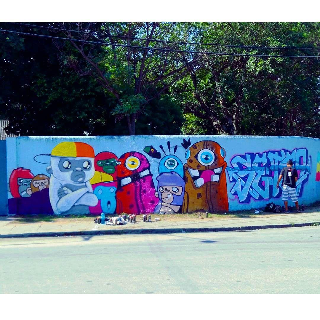 Pintura rolando em Padre Miguel!!! #asf #uniaonacionalcrew #unc #graffiti #streetartrio #streetart #personagem #letras #Galerio #rj #graffittiart