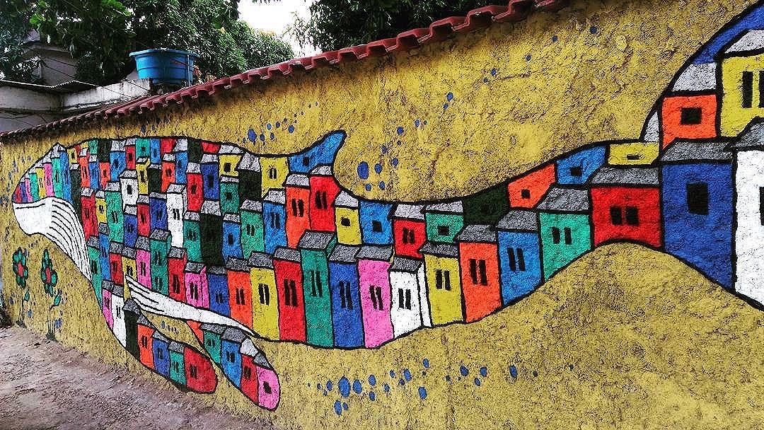 #streetartrio  #coloringthewalls  #trancoso2016  #grafiterj #whale