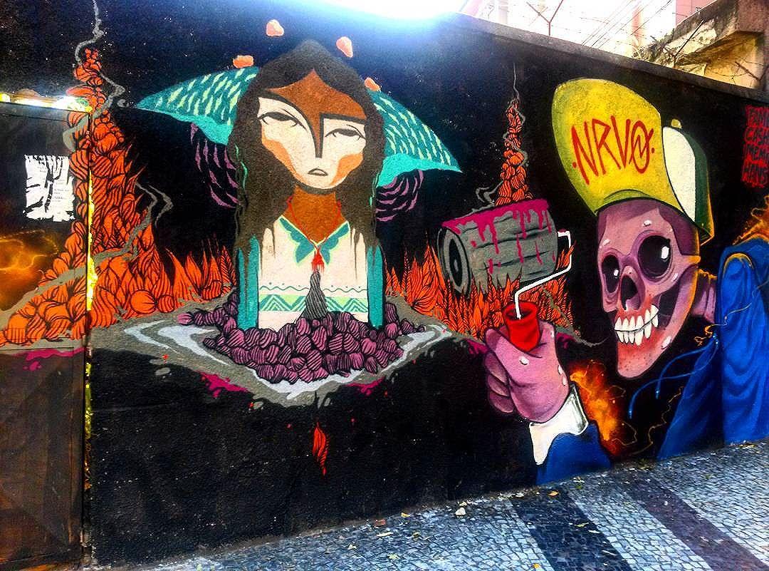 #StreetArtRio  Mural na rua São Francisco Xavier perto do Largo da Segunda Feira, na Tijuca; 4/4  Artistas no detalhe: @memiguilherme (Memi) e @raphaeltorres (Hans)  Tirada em 25/12/2016
