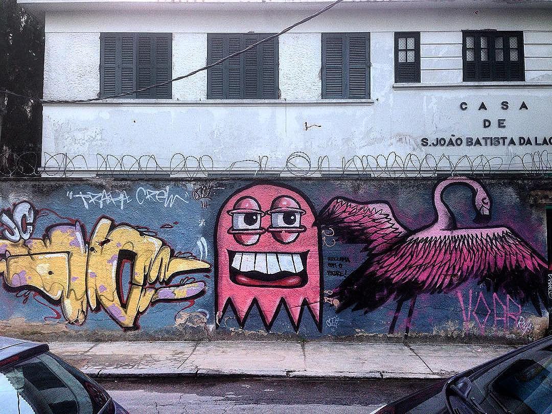 Art done by @juliojcrj @castleonardo @rafaelgeraldo @trapa_crew #graffiti #graffporn #streetart #streetartrio #streetartglobe #urbanart #spraydaily #muralsdaily #botafogo #riodejaneiro #brazil