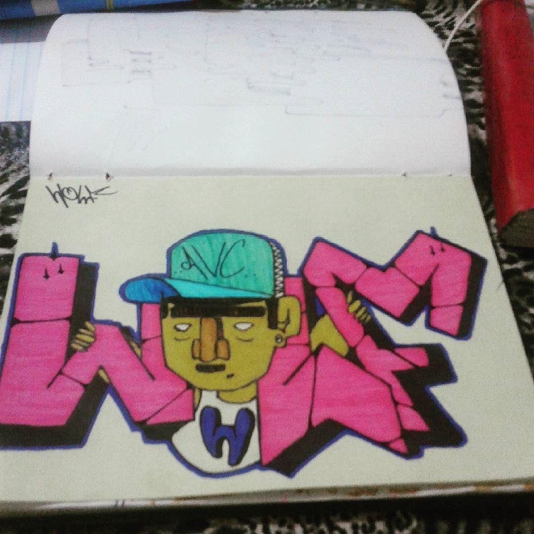 #calvinwolf  #wolf  #vandal  #graffiti #instagraffiti  #streetartrio  #graffitirj  #sketch  #bomb  #AVCrew