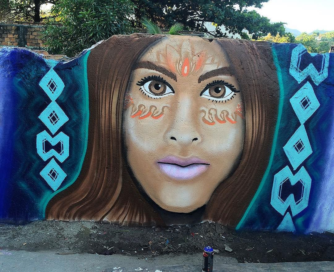 Dia de estudos na arte do Graffiti, criando minha identidade própria... Na ilha da Gigóia, beco do Júlio! #graffiti #arteurbana #visionaryart #natureza