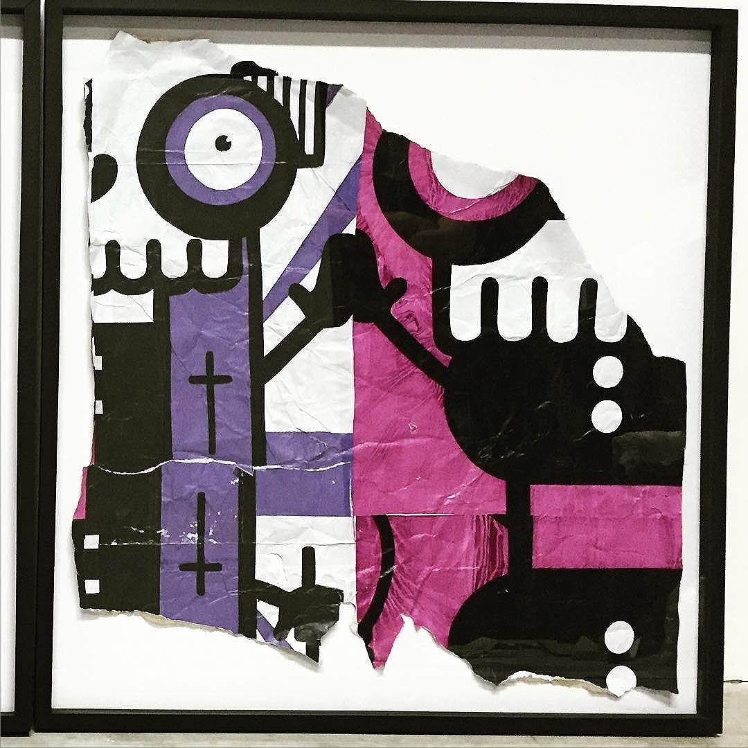 """Diptico """"2"""" parte integrante da exposição """"Recorte"""" que esta rolando na @jeffrey_theduck #rafocastro #leblon #cervejaartesanal #jeffreytheduck #beer #streetart #streetartrio #papa #carrasco #dilema #galinhapintadinha"""