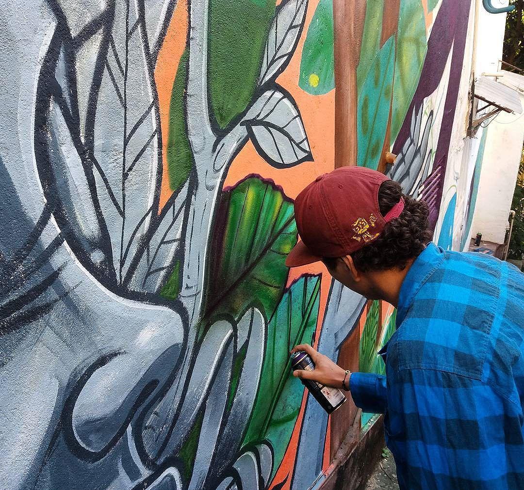 Em andamento agora com meu querido irmão @tigo_rale  #streetartrio #streetart