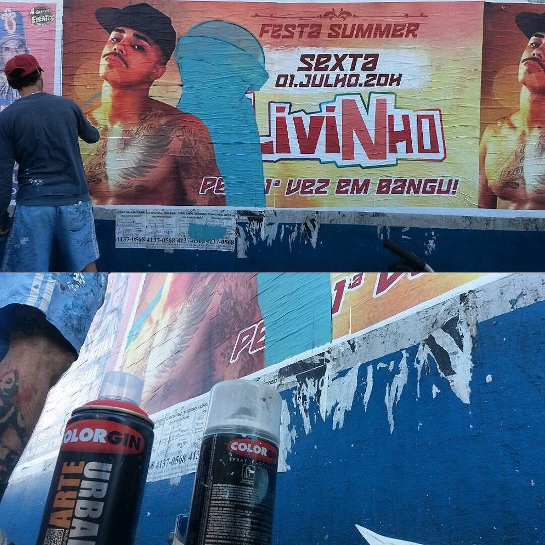 I.IC Intervenção feita em lambe lambe no centro de bangu - calçadão. @mc_livinho Vlu @negodrrama  #livinho #mclivinho #scrau #scrawl #lambelambe #streetartrj #rua #intervenção #comunicacao #interacao #graffiti #culturaderua #sprayart #streetbombing #vandal #vandalismo #vandals #streetartist #streetstyle #streetartrio